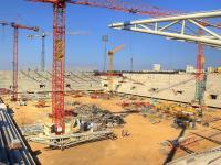 Budowa stadionu: foto od środka