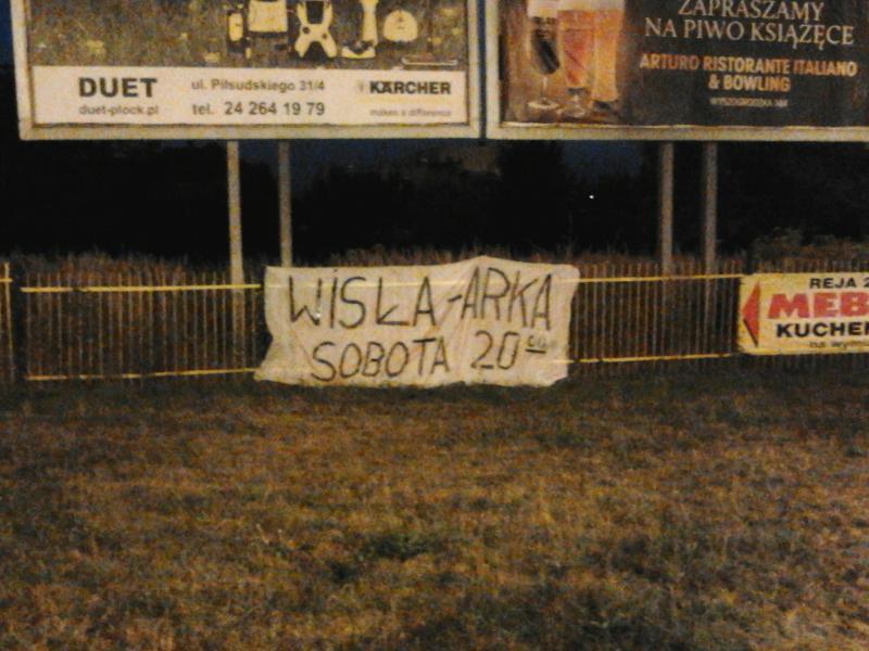 W Płocku mobilizacja na mecz z Arką
