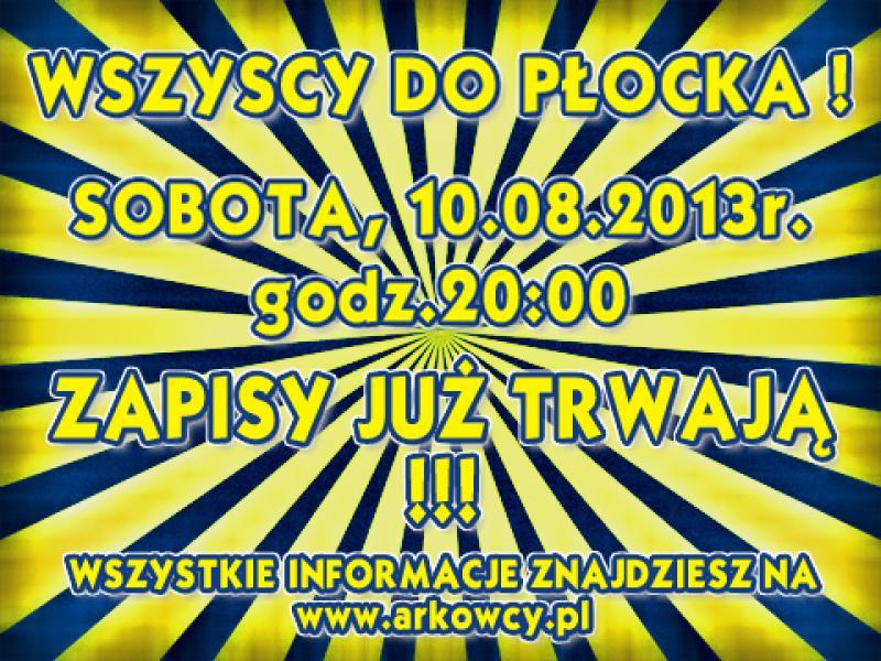 Zapisy na wyjazd do Płocka jutro przed meczem